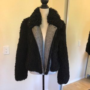 Bar III faux fur jacket